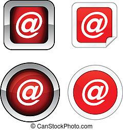 Arroba button set. - Arroba web buttons. Vector...