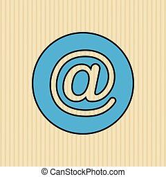 arroba icon design - arroba icon design, vector illustration...
