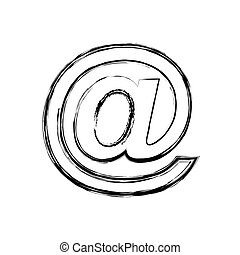 arroba social media icon vector illustration design