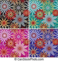 arrojado, flores, padrão