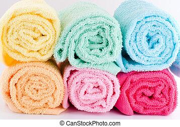 arrollado, toallas