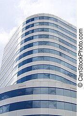 arrondi, bâtiment moderne