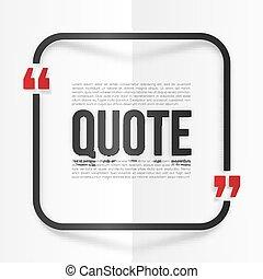 arrondi, citation, cadre, plié, papier, arrière-plan noir,...
