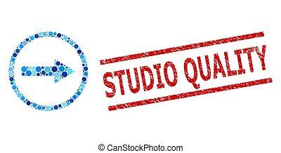 arrondi, collage, points, rond, timbre, qualité, imitation, studio, flèche, grunge, droit