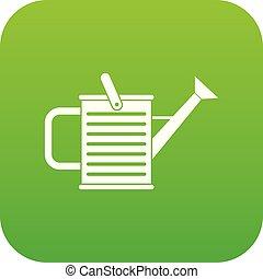 arrosage, vert, boîte, icône, numérique