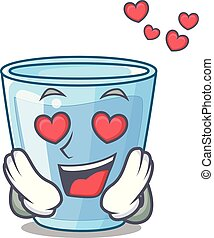 arrosez verre, amour, isolé, mascotte