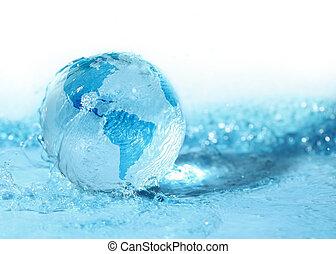 arrosez verre, globe
