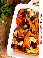 arrostito, verdura