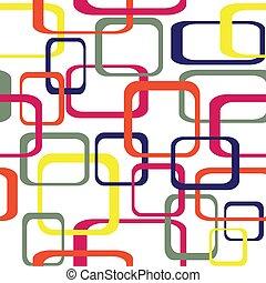arrotondato, colorare, modello, -, seamless, vettore, retro, fondo, squadre