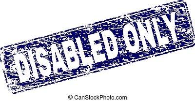 arrotondato, francobollo, incorniciato, invalido, soltanto, grunge, rettangolo