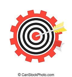 arrow., ターゲット, イラスト