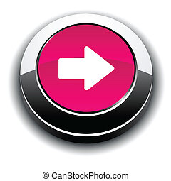 Arrow 3d round button.