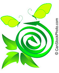 symbol ecological recycled - Arrow a symbol ecological ...
