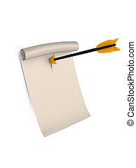 3d rendering, urgent latter concept. Isolated on white background.