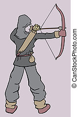 Arrow and man