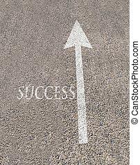 arrow and success
