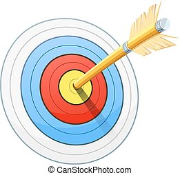 Arrow and target for bow shooting - Arrow for bow shooting. ...