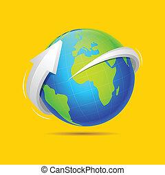 Arrow around Earth