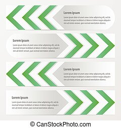 Arrow Banner Design green color