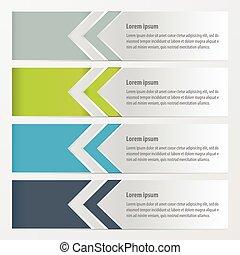 Arrow Banner Green, blue, gray color