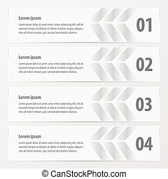 Arrow Banner template white color