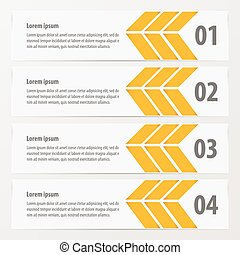 Arrow Banner template yellow color