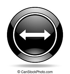 arrow black glossy icon