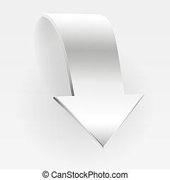 arrow., blanc, bannière