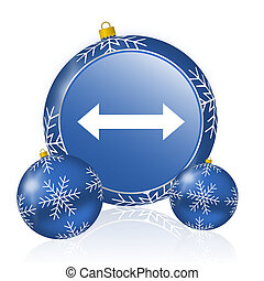 Arrow blue christmas balls icon