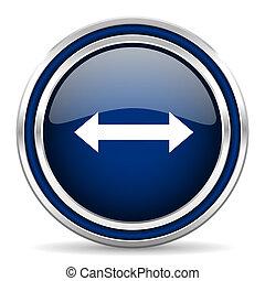 arrow blue glossy web icon
