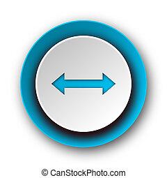 arrow blue modern web icon on white background