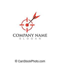 Arrow board logo and symbol vector image