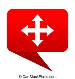 arrow bubble red icon