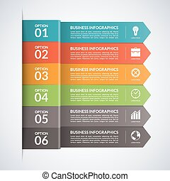 Arrow business infographics template. Vector