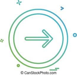 Arrow button icon design vector