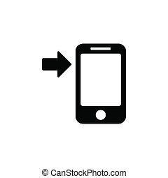 Arrow button phone icon. Simple glyph, flat vector of Technology icons for UI and UX, website or mobile application