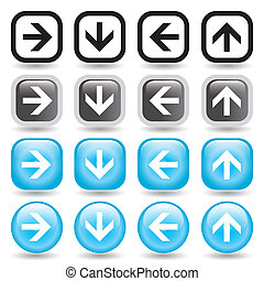 Arrow Button Set - An set of directional arrow icons in...
