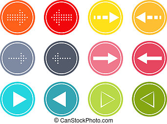 Arrow buttons set