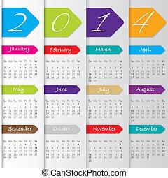 Arrow calendar design for 2014