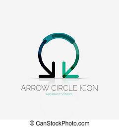 Arrow circle icon company logo, business concept