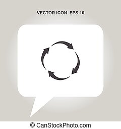 arrow circle vector icon