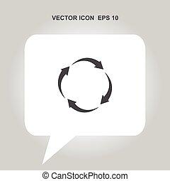 arrow circle vector icon