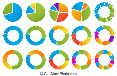 Arrow circles - Set of Different arrow circles isolated on...
