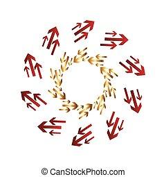 Arrow circular