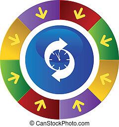 Arrow Clock