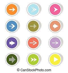 arrow color vector illustration