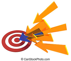 Arrow colors find target bullseye success