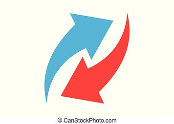 arrow connection logo vector
