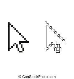 arrow cursor - green vector icon