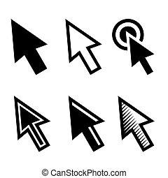 Arrow Cursors Symbol Icons Set. Vector
